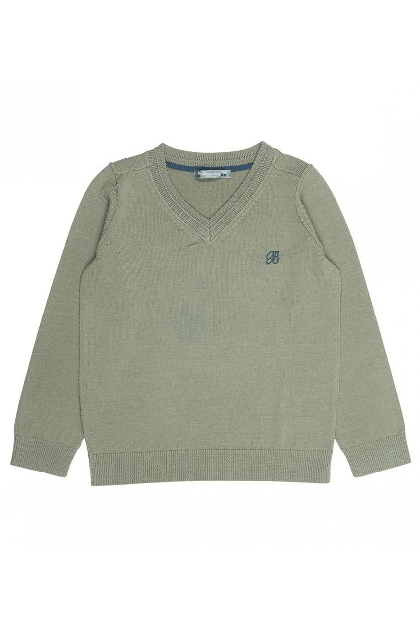 Пуловер зеленый шерстяной