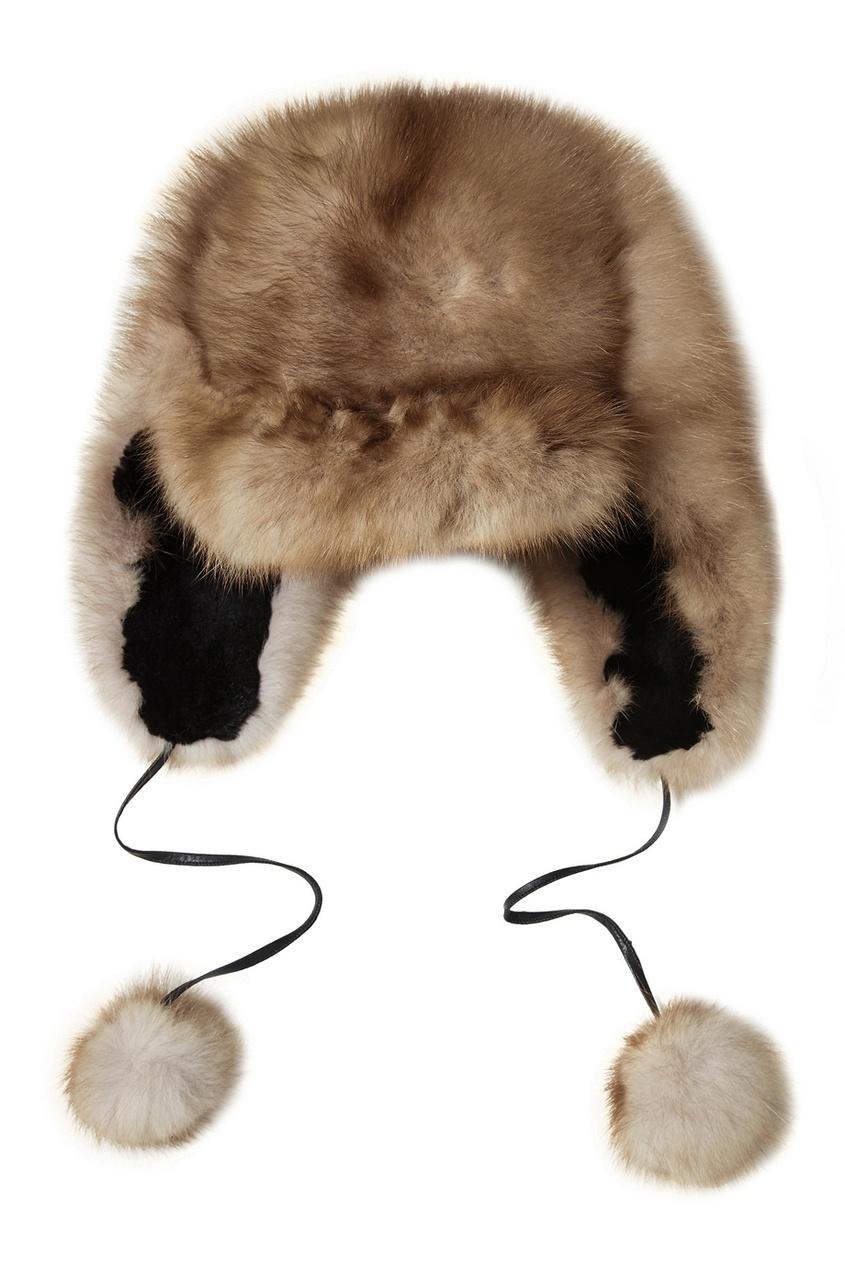 DREAMFUR Шапка-ушанка из меха куницы шапки ушанки olle шапка ушанка