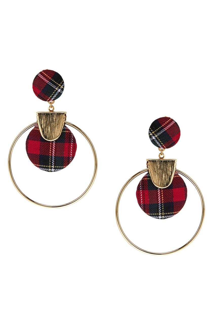 Lisa Smith Серьги-кольца с текстильным декором