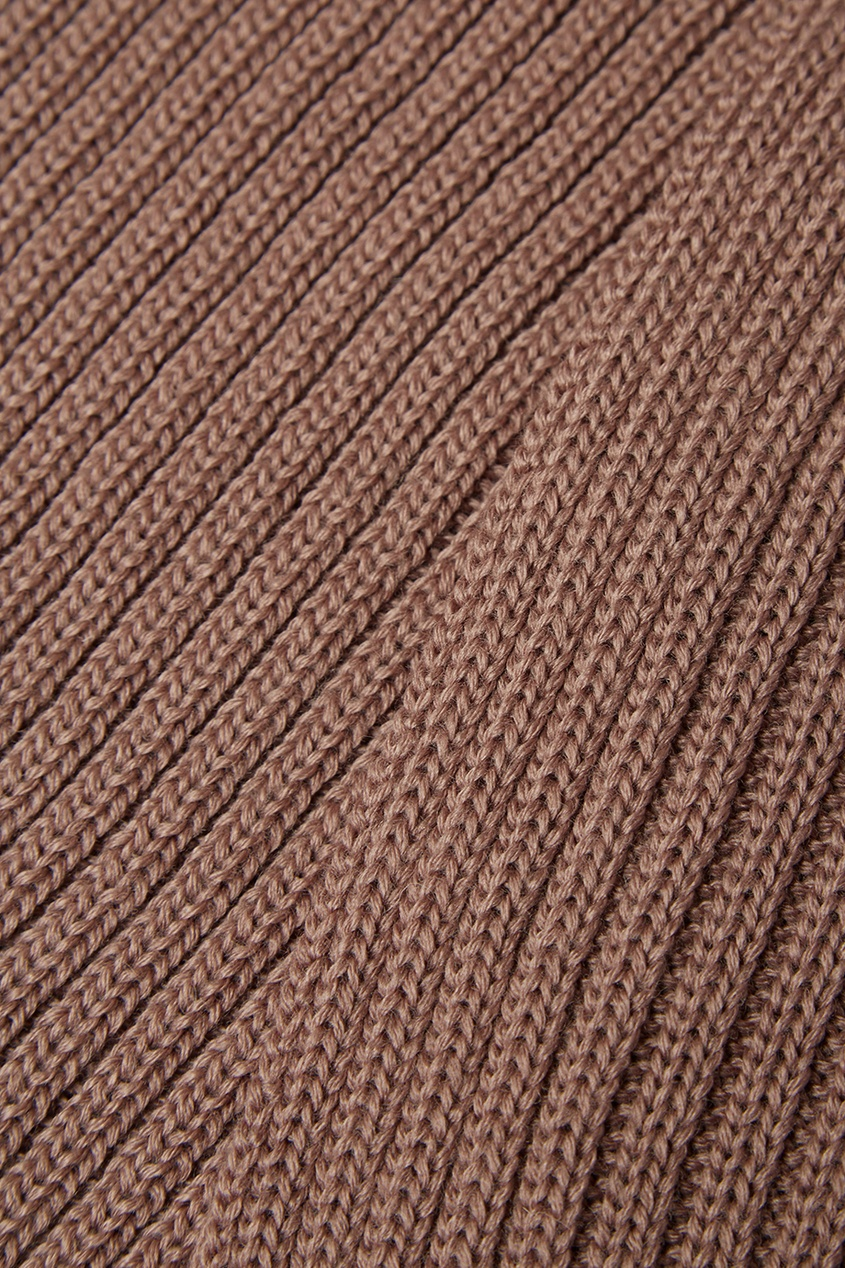 Коричневый шарф-снуд из полушерсти