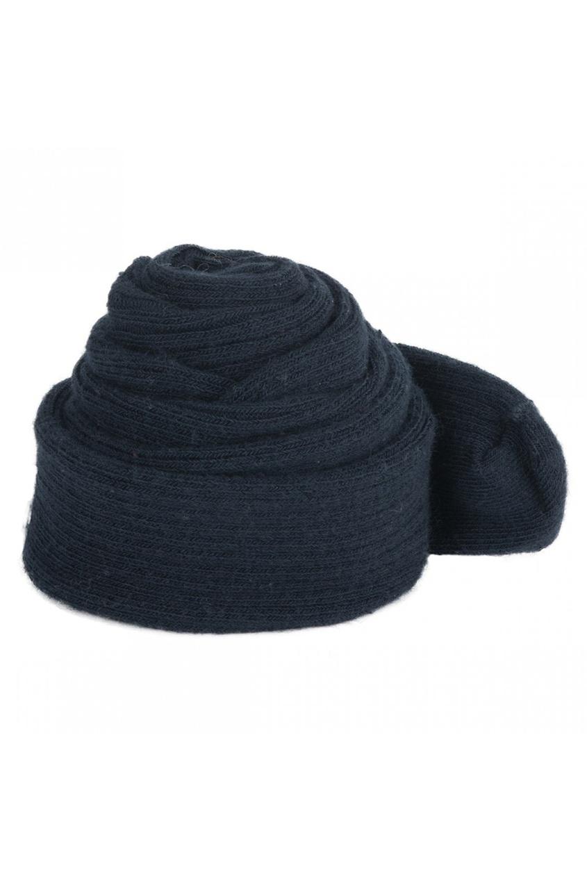 Темно-синие колготки из хлопка с кашемиром Bonpoint