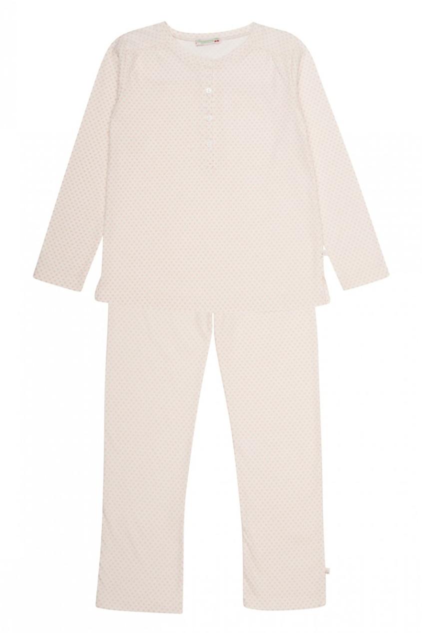 Розовая пижама из хлопка