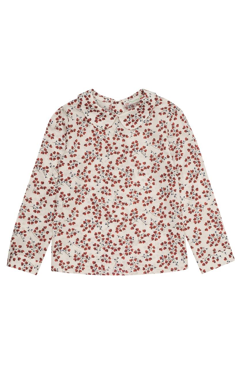 Блузка с красным принтом Delice
