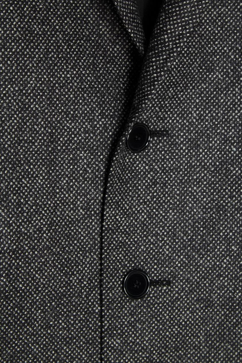 Купить со скидкой Серое шерстяное пальто