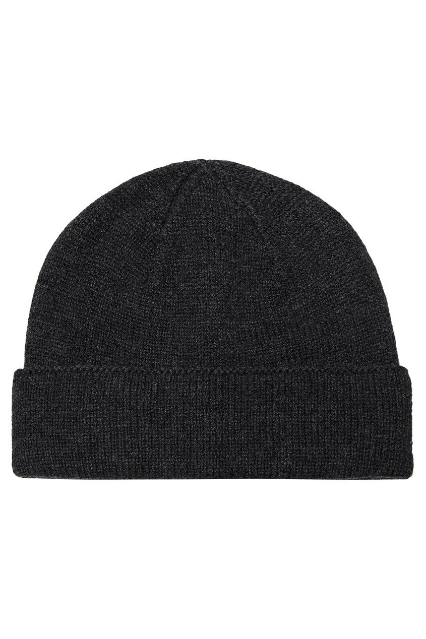 мужская шапка canali, серая