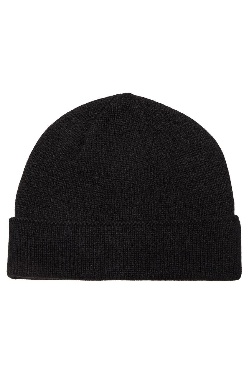 мужская шапка canali, черная