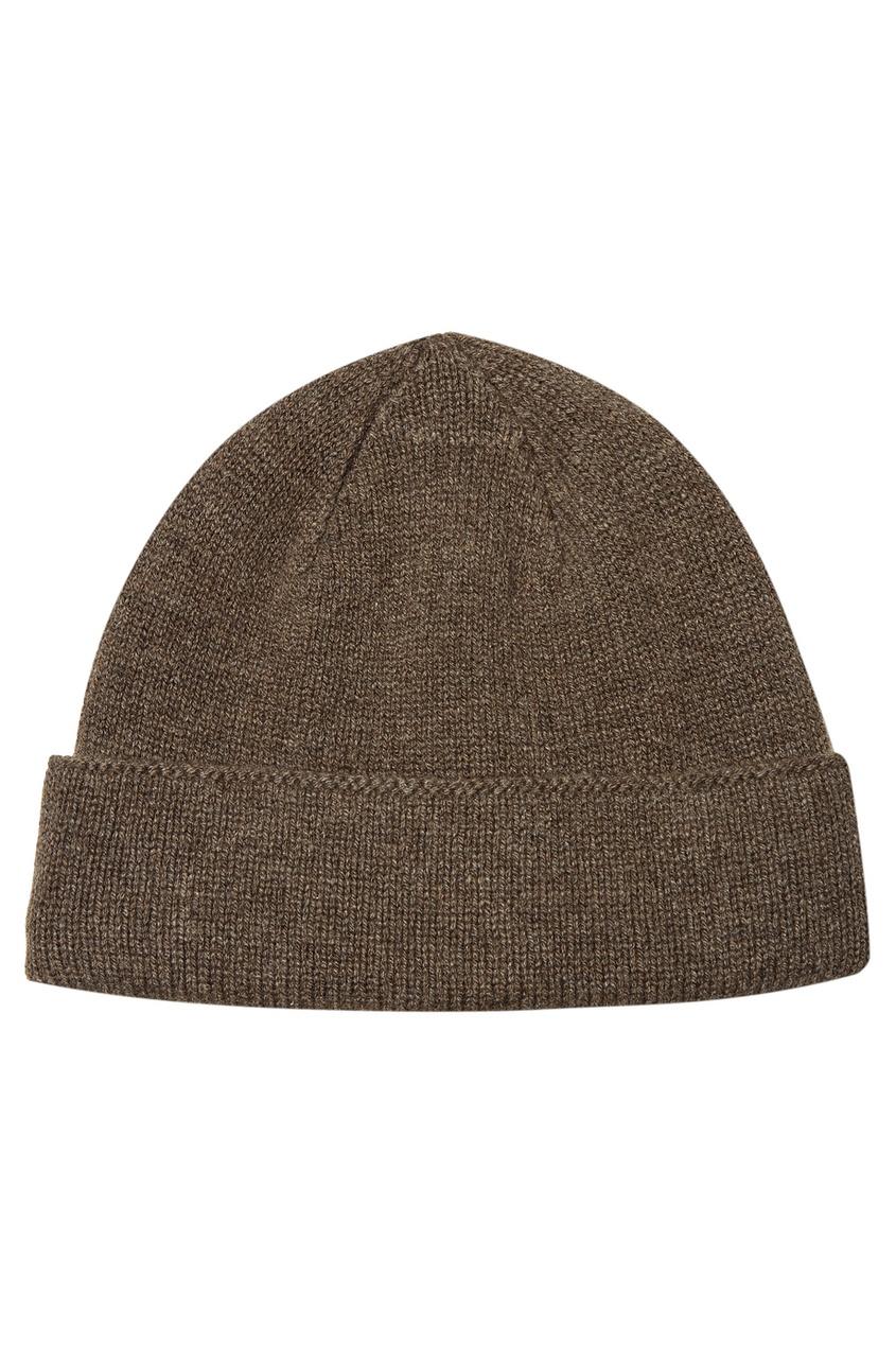 мужская шапка canali, бежевая