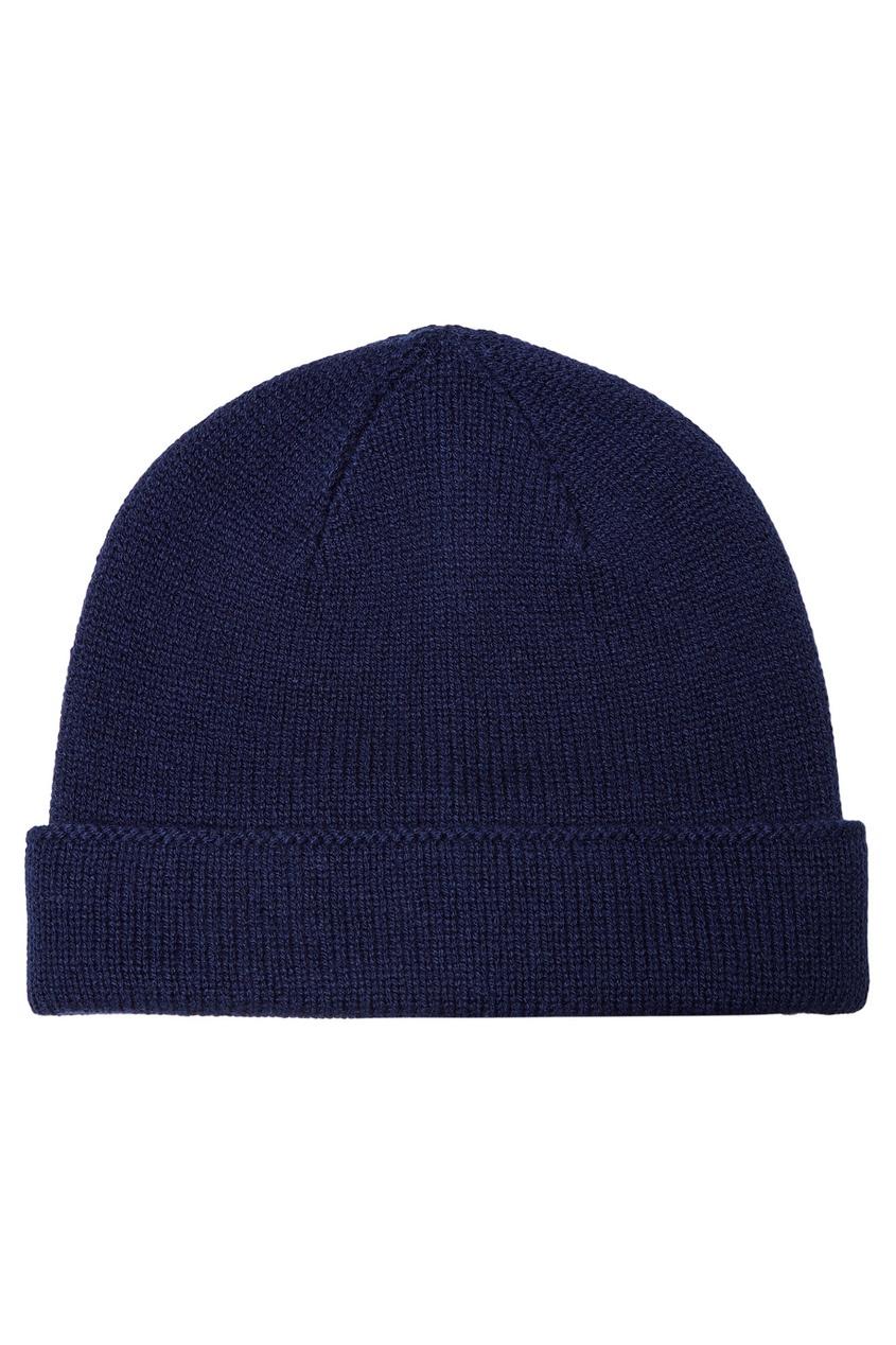 мужская шапка canali, синяя