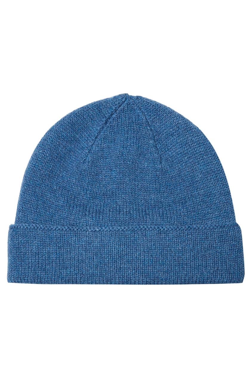 мужская шапка canali, голубая