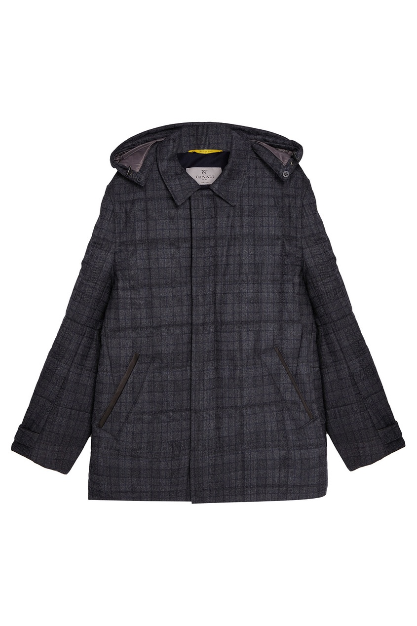 Canali Шерстяная куртка в клетку boccia bcc 3572 01