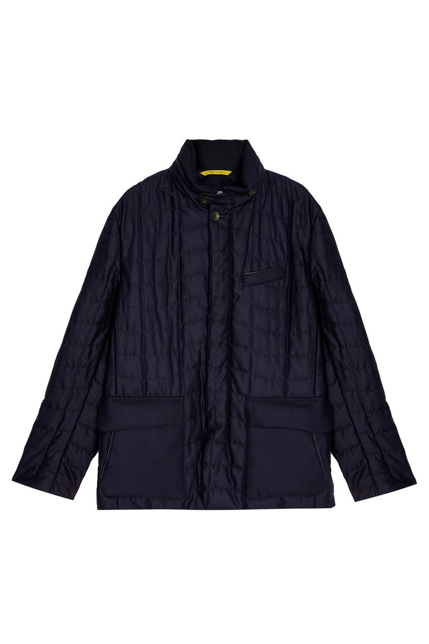 Купить со скидкой Стеганая куртка из шерсти