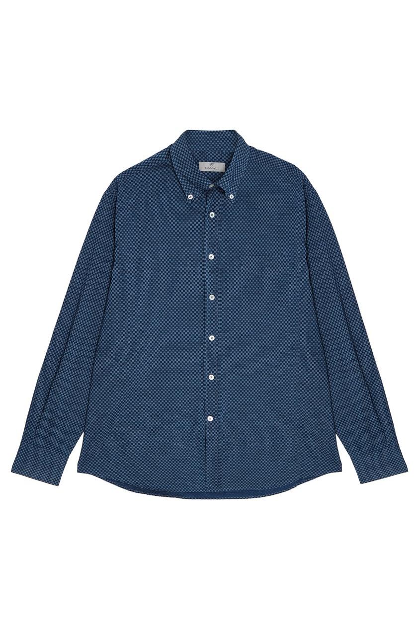 Купить со скидкой Хлопковая рубашка в клетку