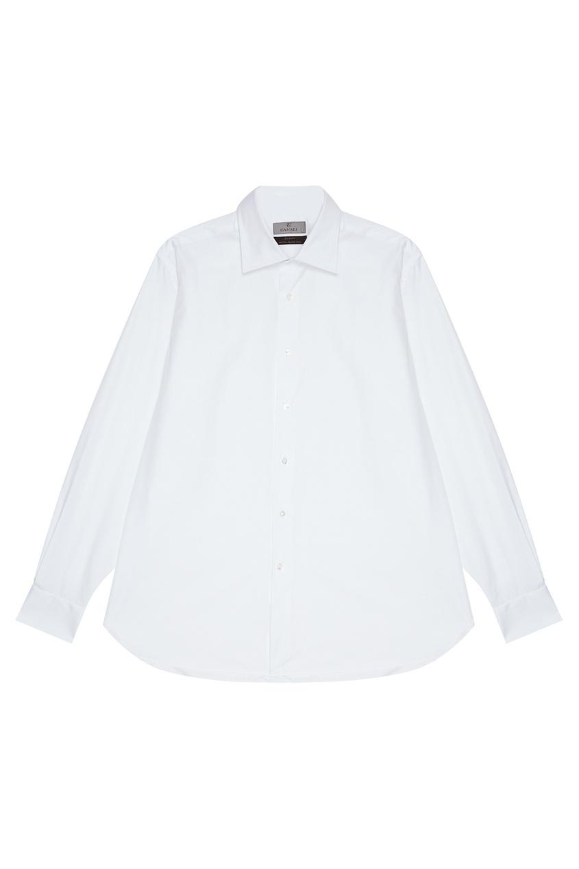 Canali Белая хлопковая сорочка сорочка