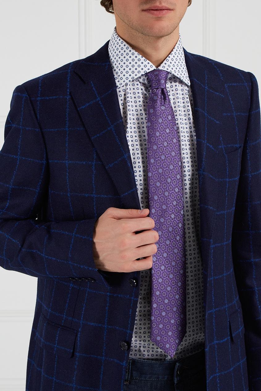 Шелковый галстук фиолетового цвета