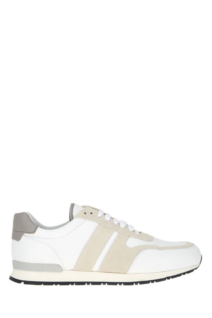 Купить со скидкой Белые кожаные кроссовки