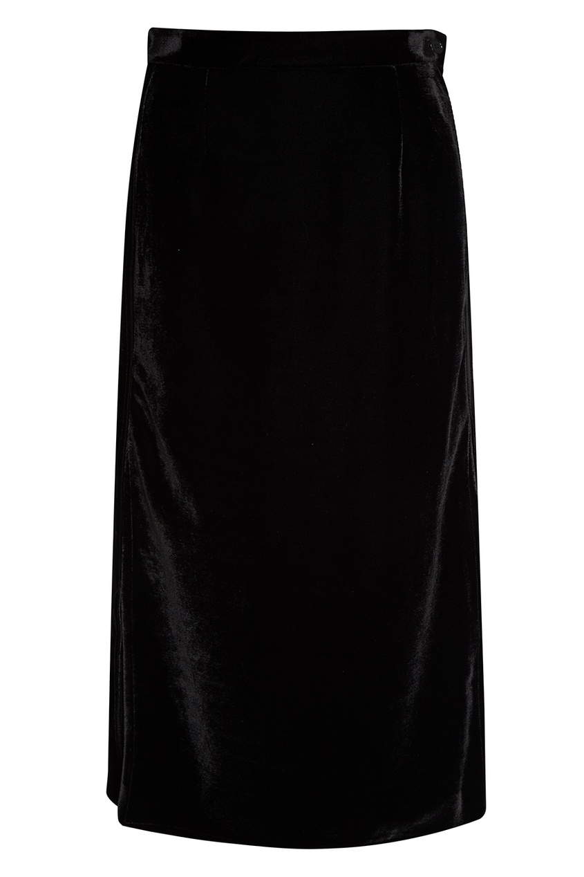 MM6 Maison Margiela Черная бархатная юбка-карандаш mm6 maison margiela перчатки