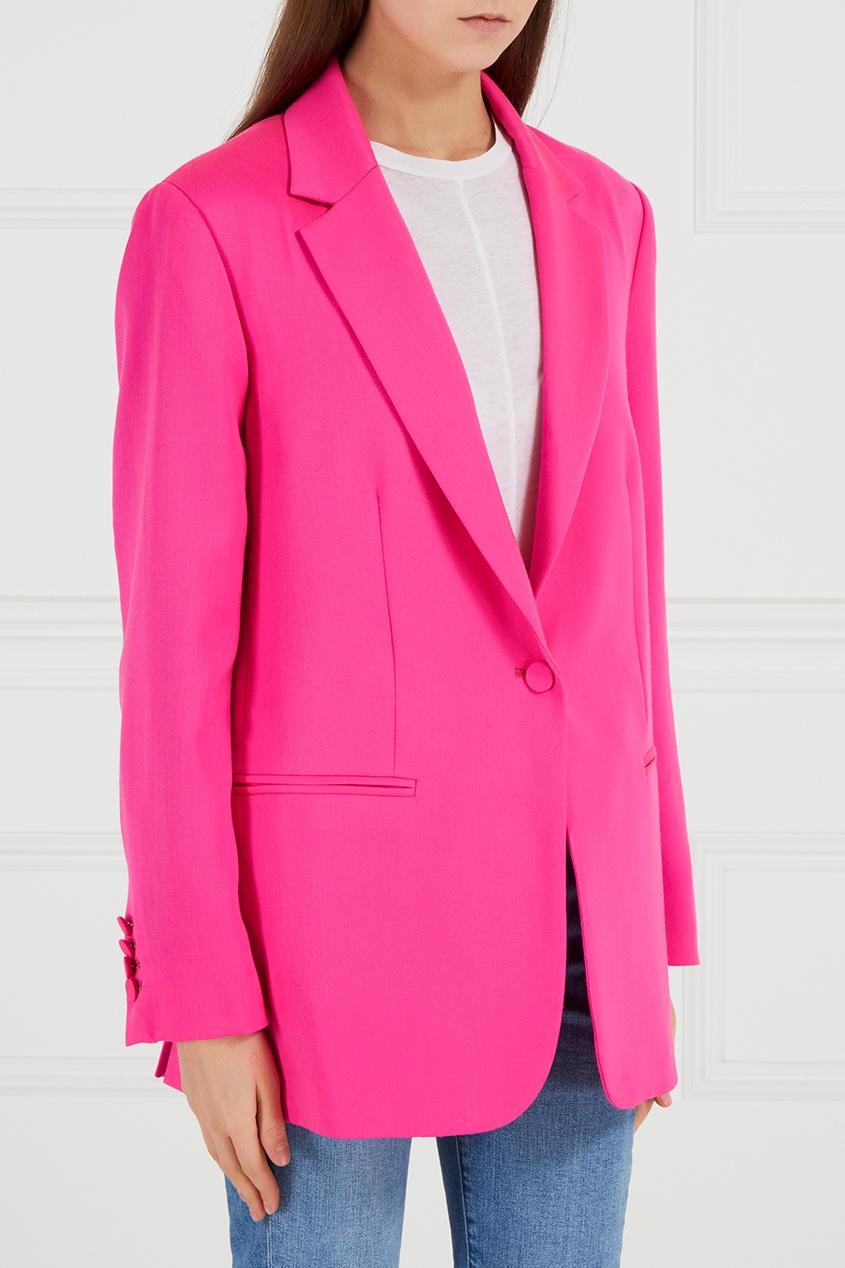 Купить со скидкой Розовый шерстяной жакет