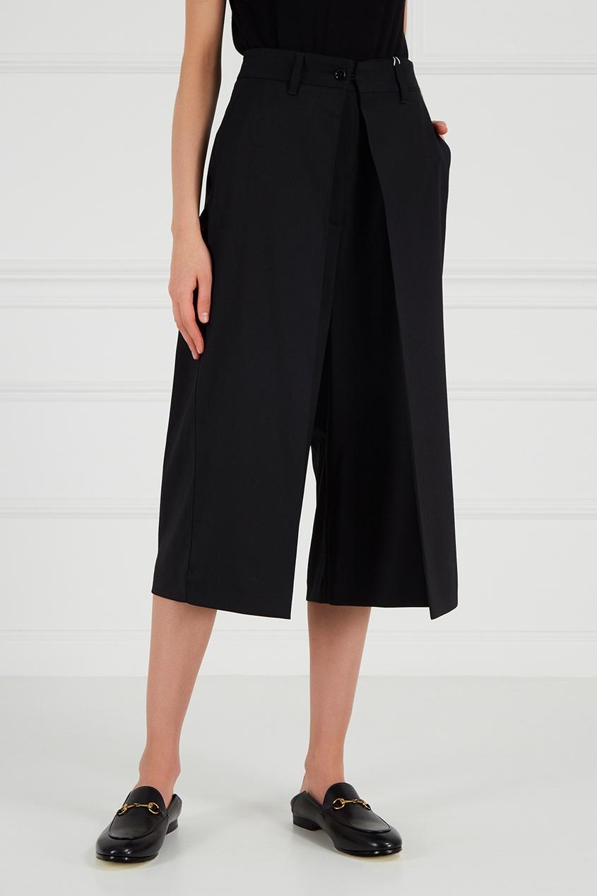 MM6 Maison Margiela Черные шорты-oversize mm6 maison margiela перчатки