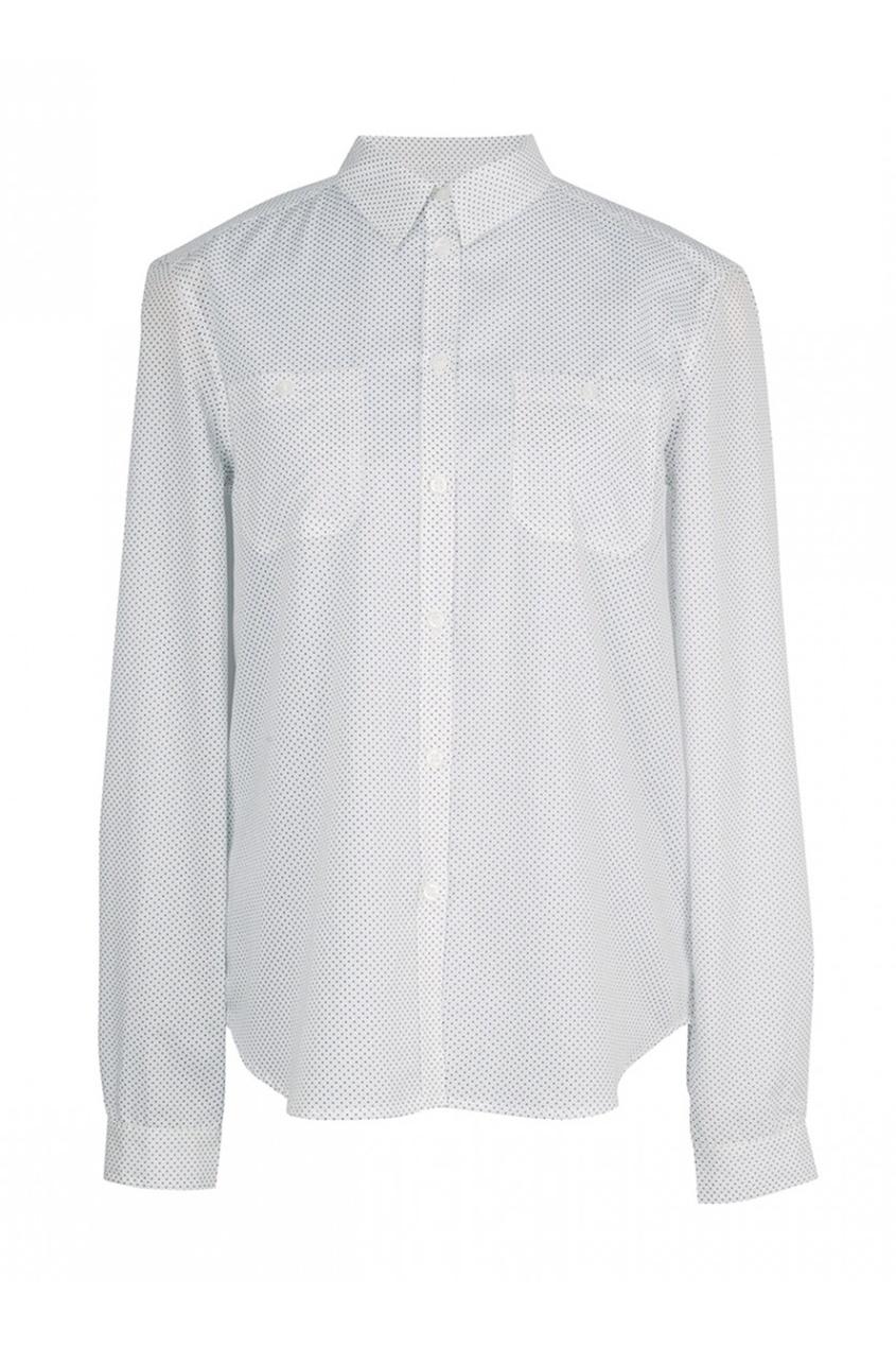 Хлопковая рубашка с принтом Edmee
