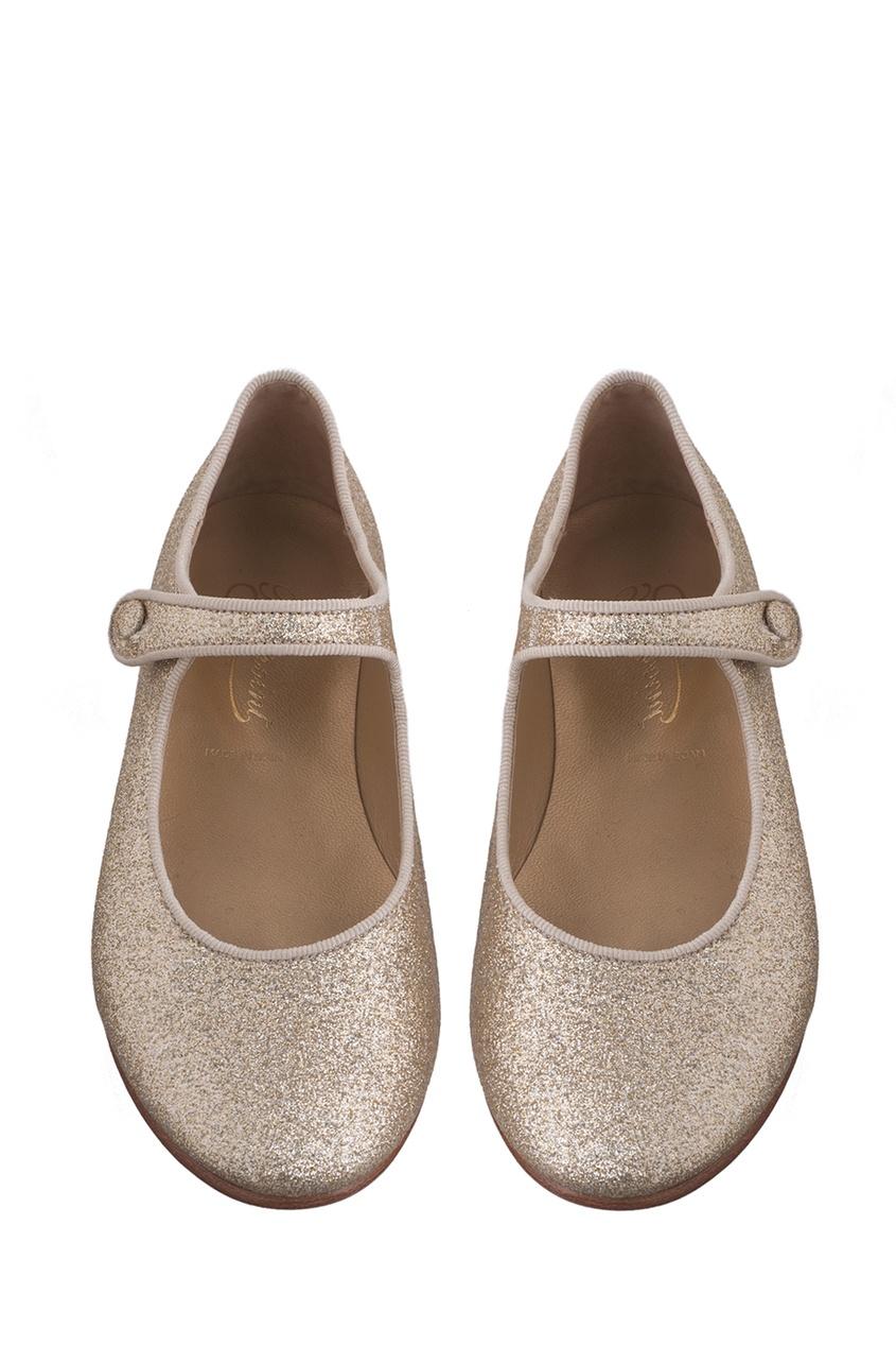 Bonpoint Золотистые туфли Bella bonpoint блестящие туфли bella