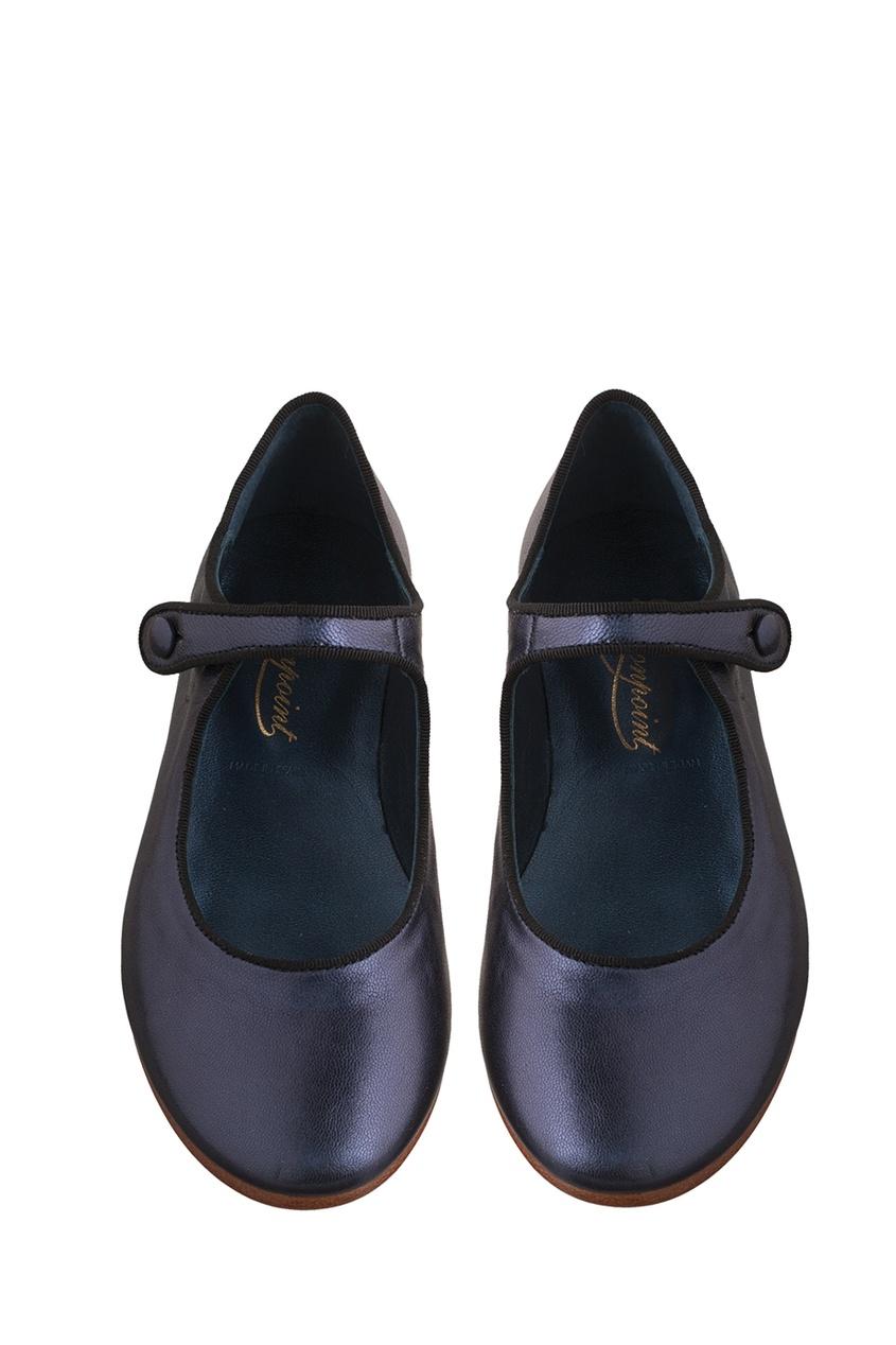 Bonpoint Фактурные туфли из кожи Bella bonpoint блестящие туфли bella