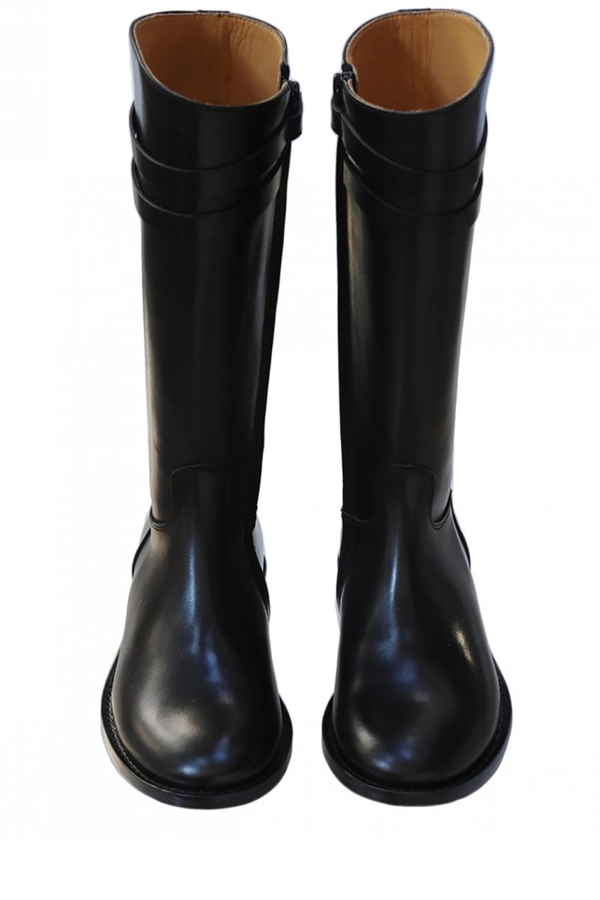 Bonpoint Кожаные черные сапоги Botte bonpoint кожаные черные сапоги botte