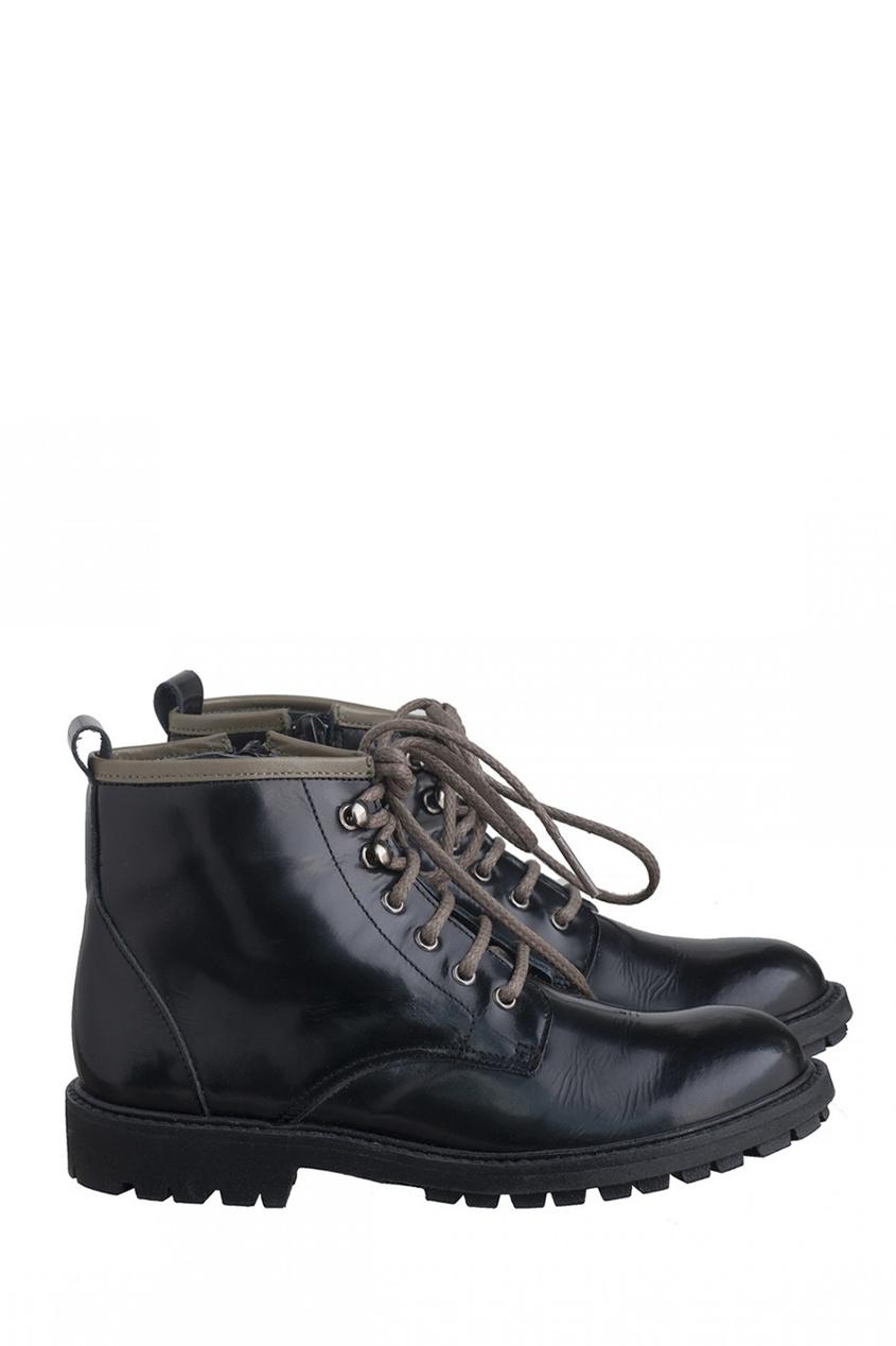 Фото #1: Черные ботинки Brixton
