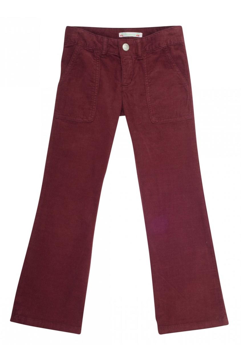 Бордовые брюки-клеш File