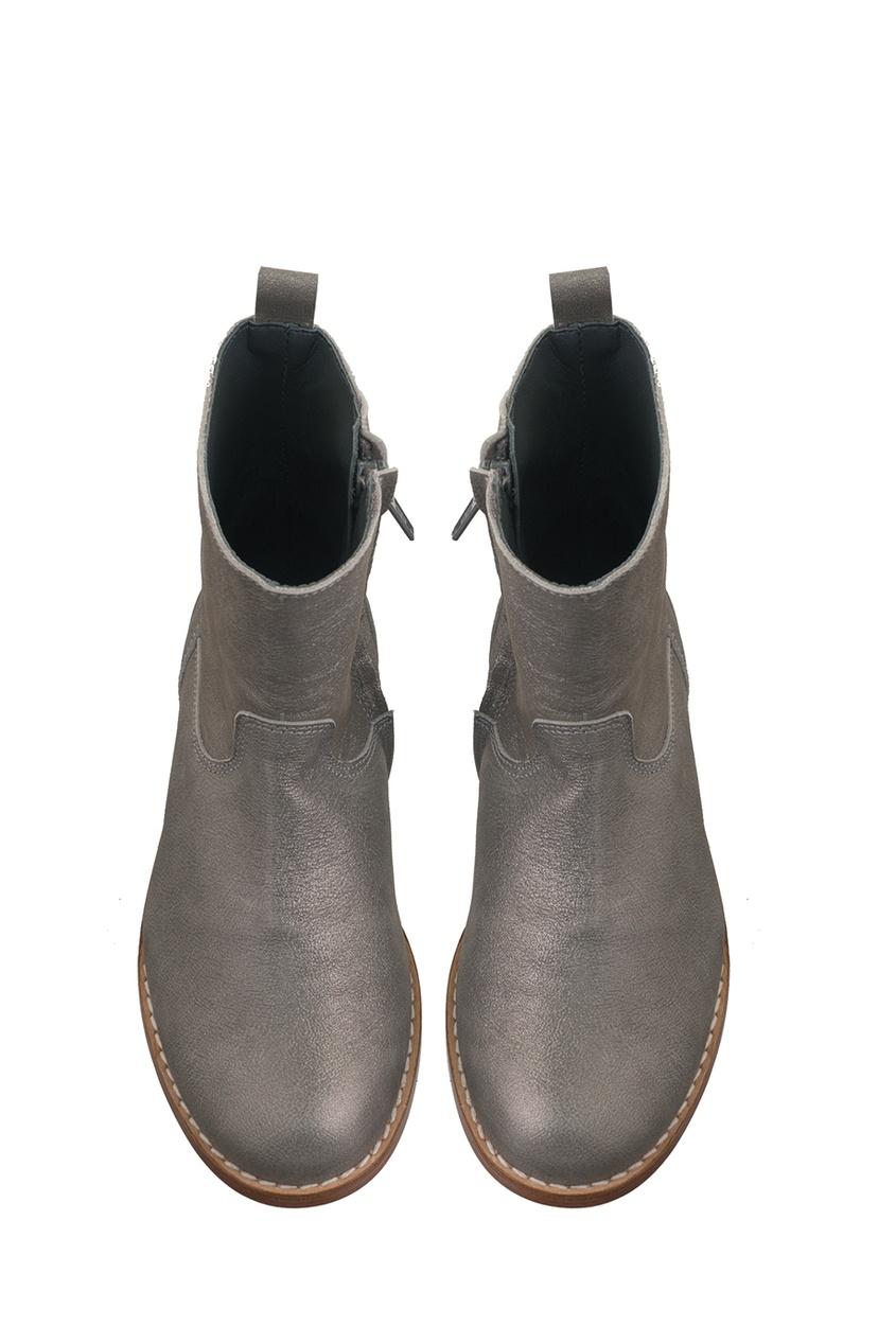Серебристые ботинки Litchis