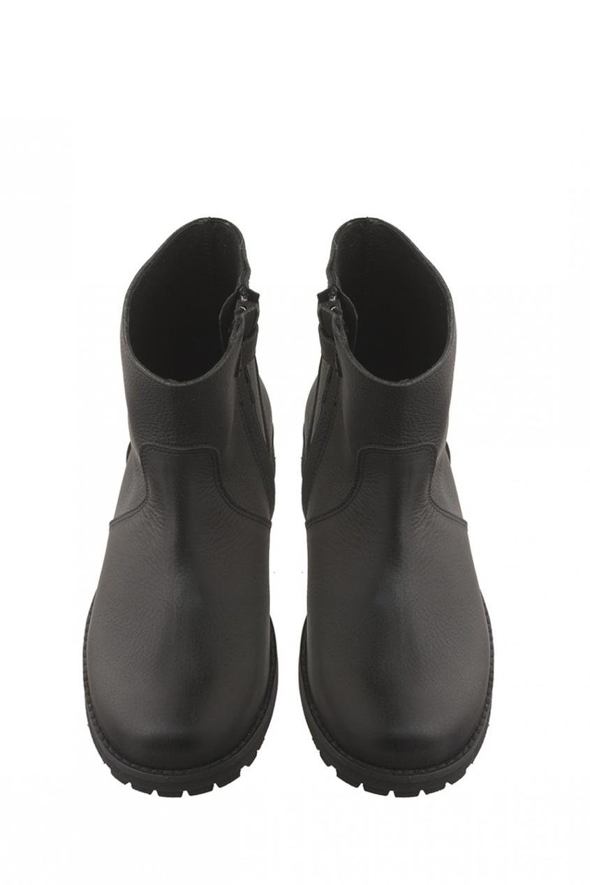 Bonpoint Байкерские кожаные сапоги Lomoto bonpoint кожаные черные сапоги botte