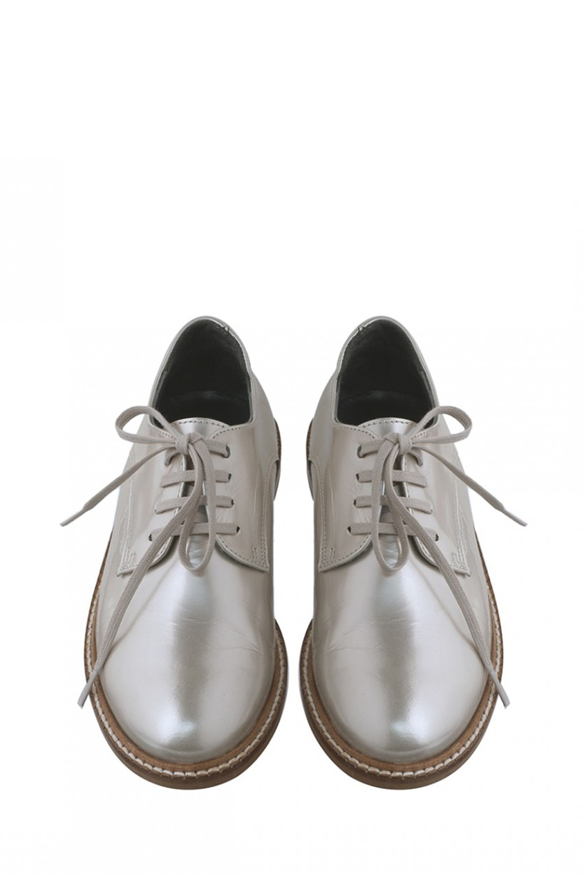 Купить со скидкой Серебристые кожаные туфли Louise