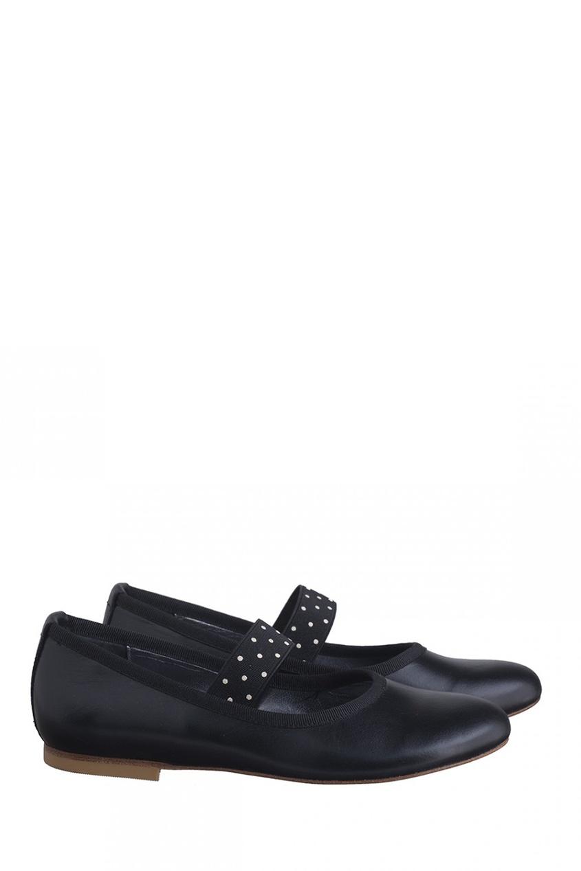 Bonpoint Кожаные туфли с отделкой Nina bonpoint блестящие туфли bella