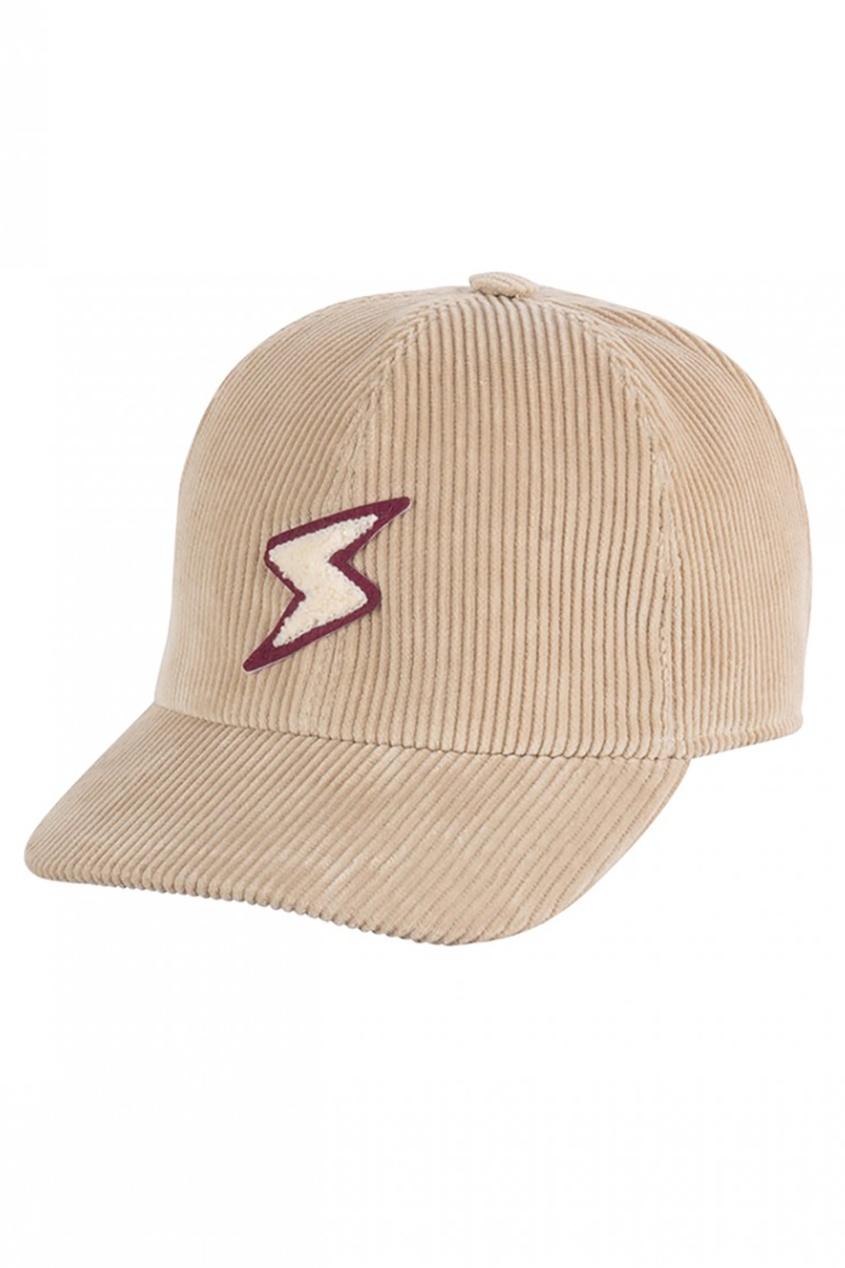 Вельветовая кепка с аппликацией Cap