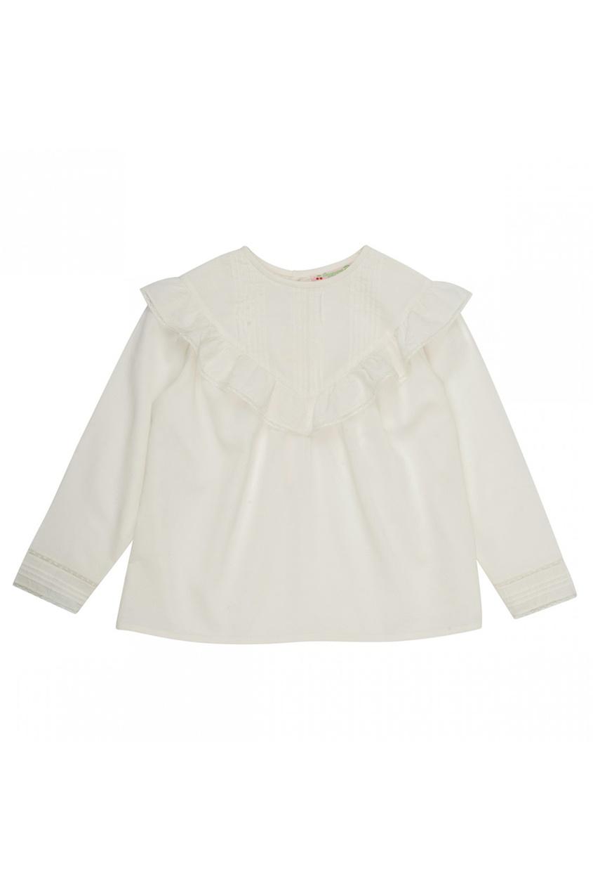Шелковая блузка с оборками Falbi
