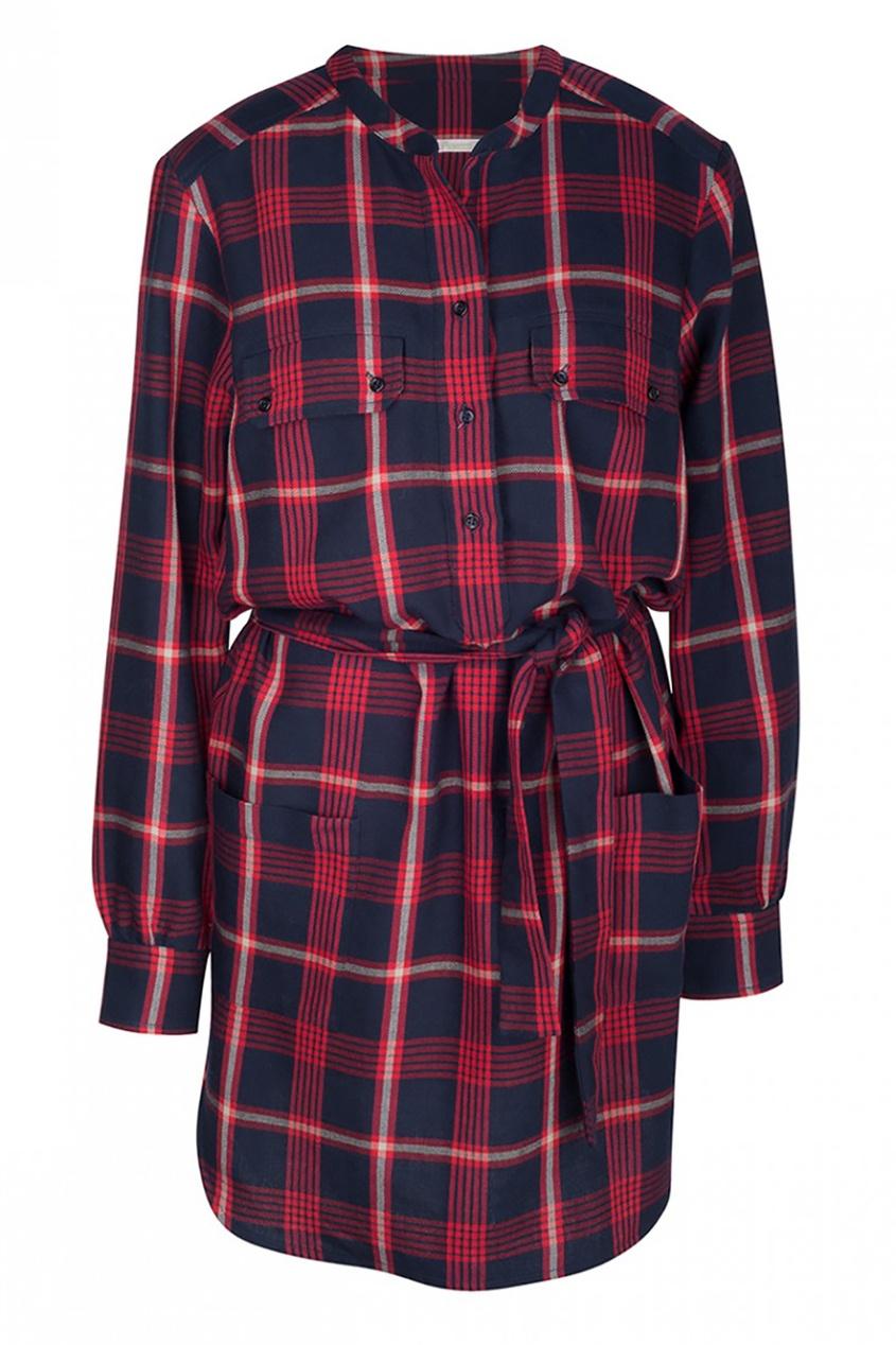 Bonpoint Платье-рубашка в клетку Fanfan рубашка в клетку из денима gamix3