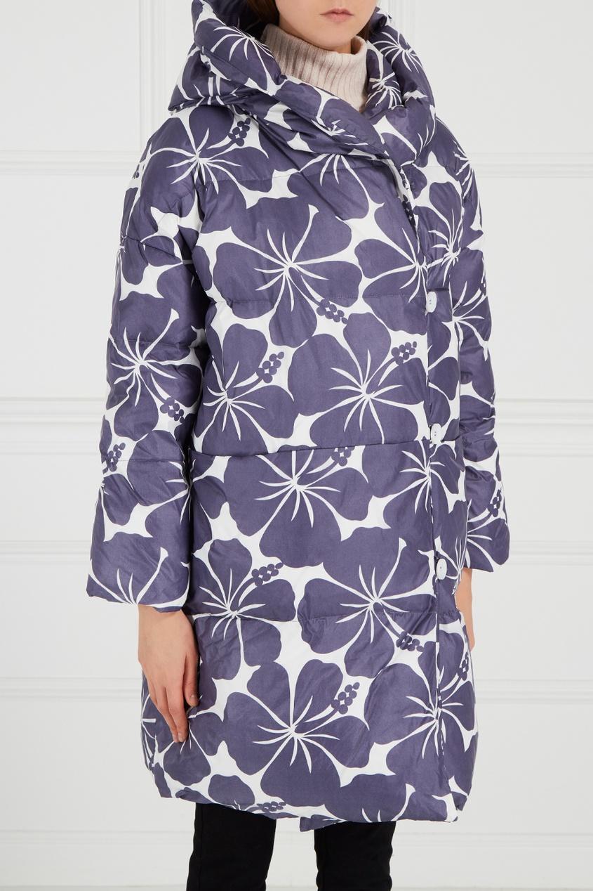 MILA MARSEL Пуховик с цветочным принтом