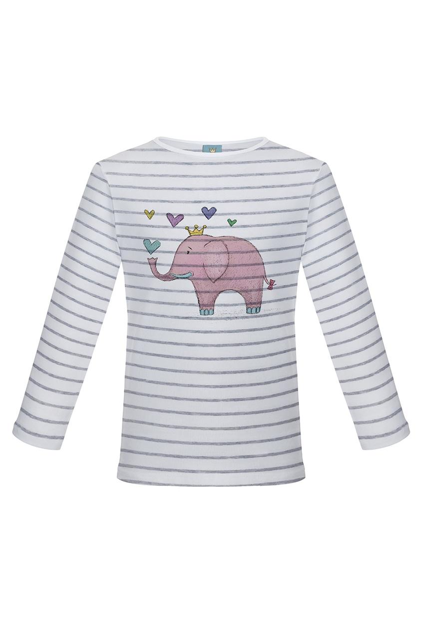 LISA&LEO Лонгслив в полоску «Розовый слоник» lisa corti короткое платье