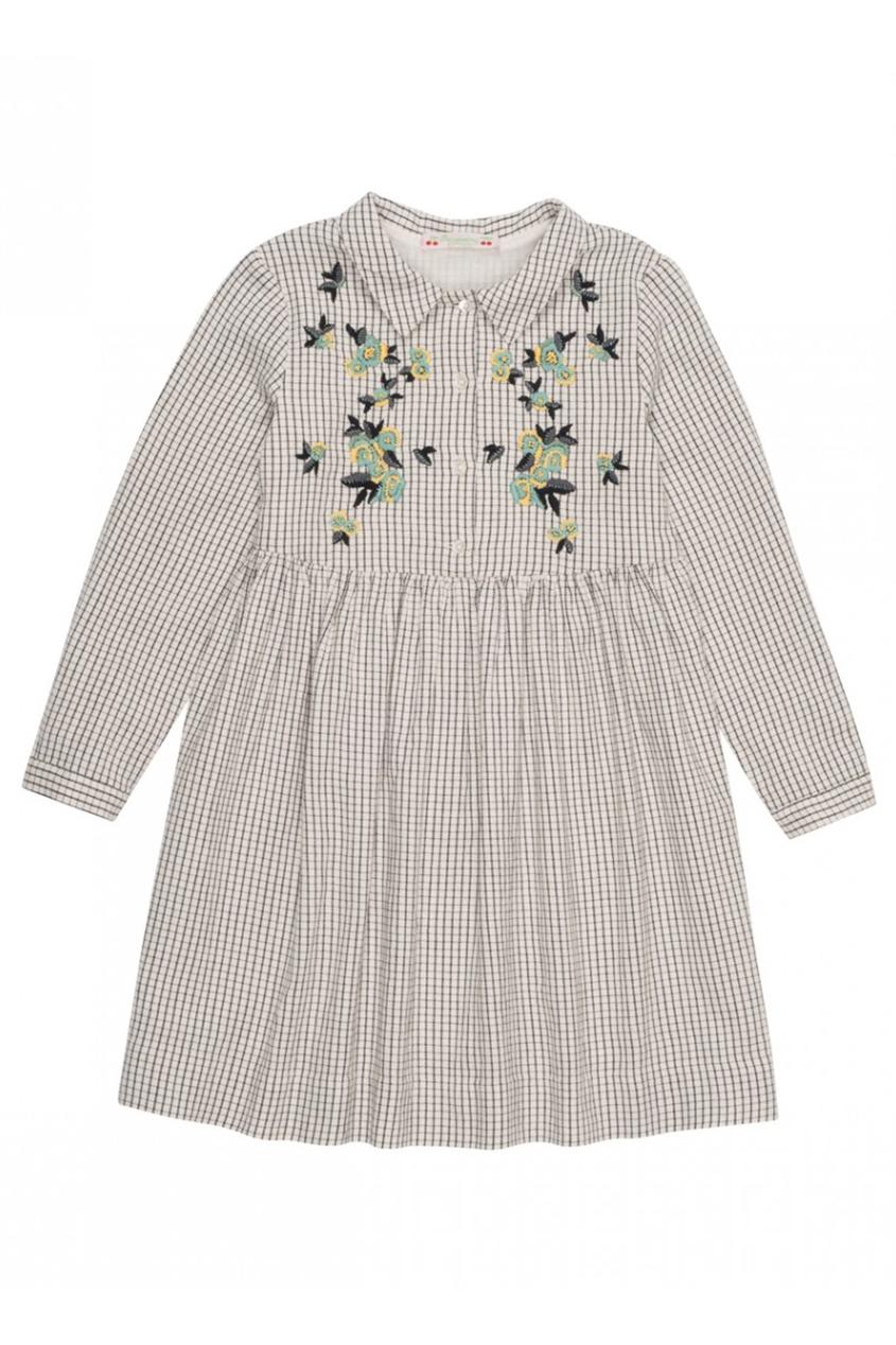 Хлопковое платье с вышивкой Fatine