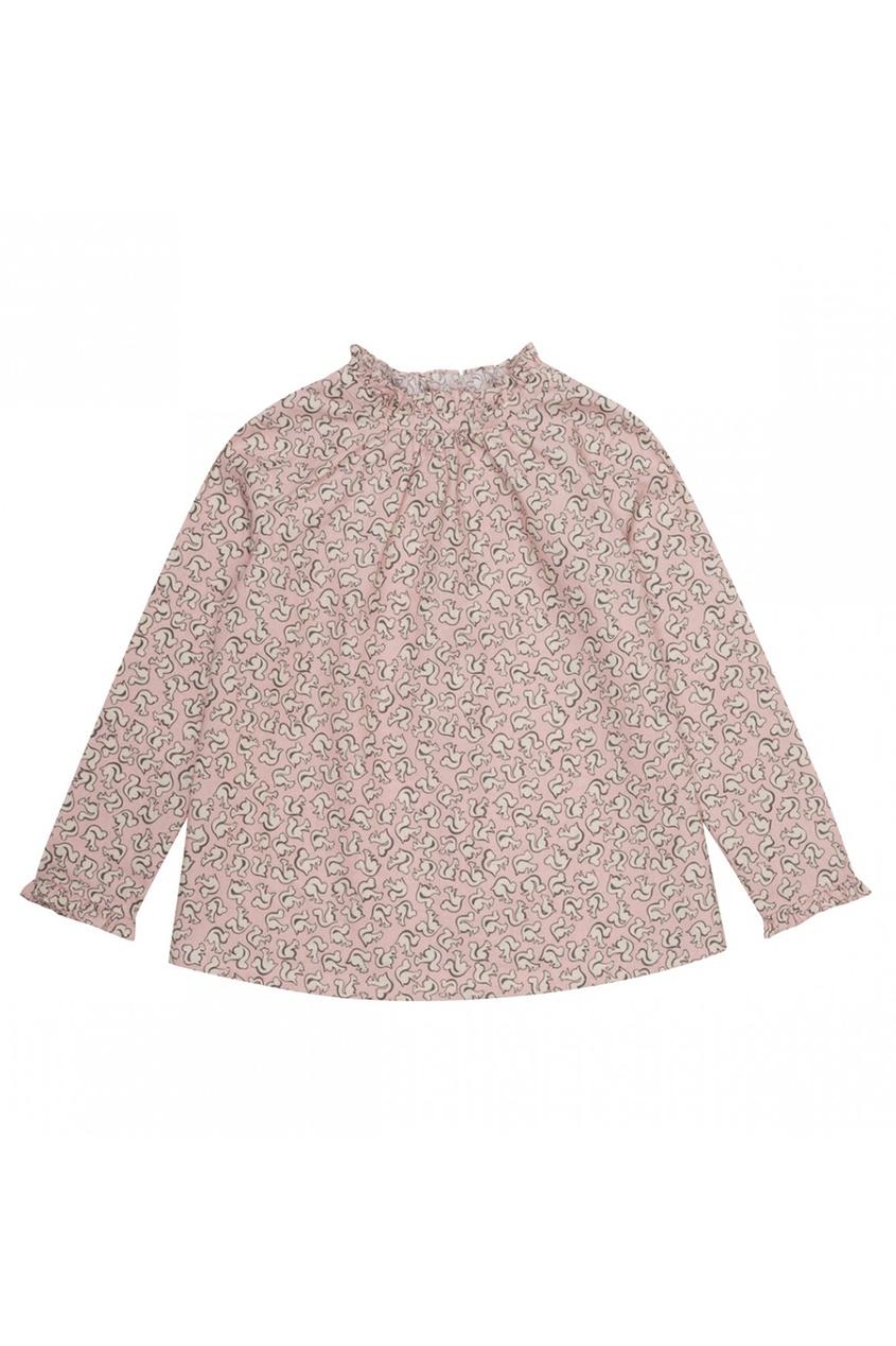 Хлопковая блузка с принтом