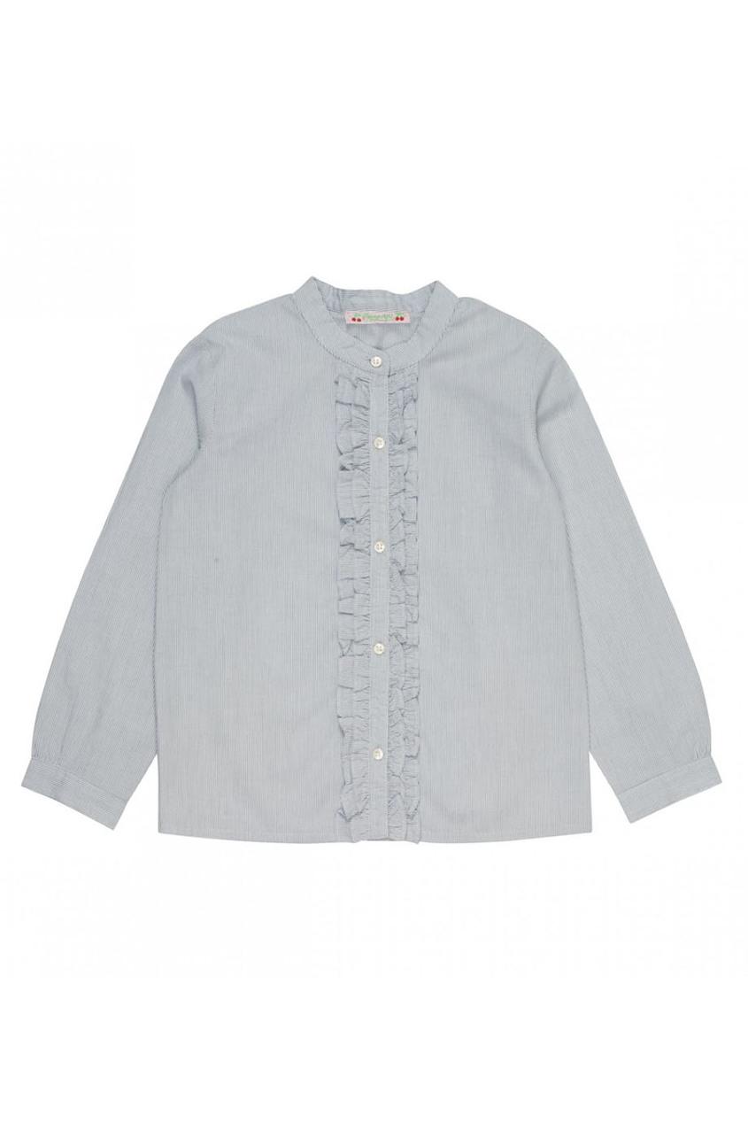 Полосатая рубашка с рюшами