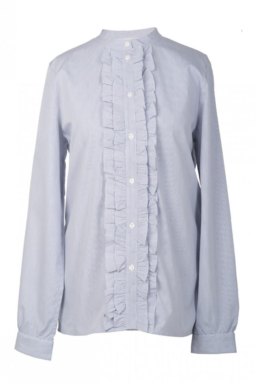 Удлиненная рубашка с рюшами