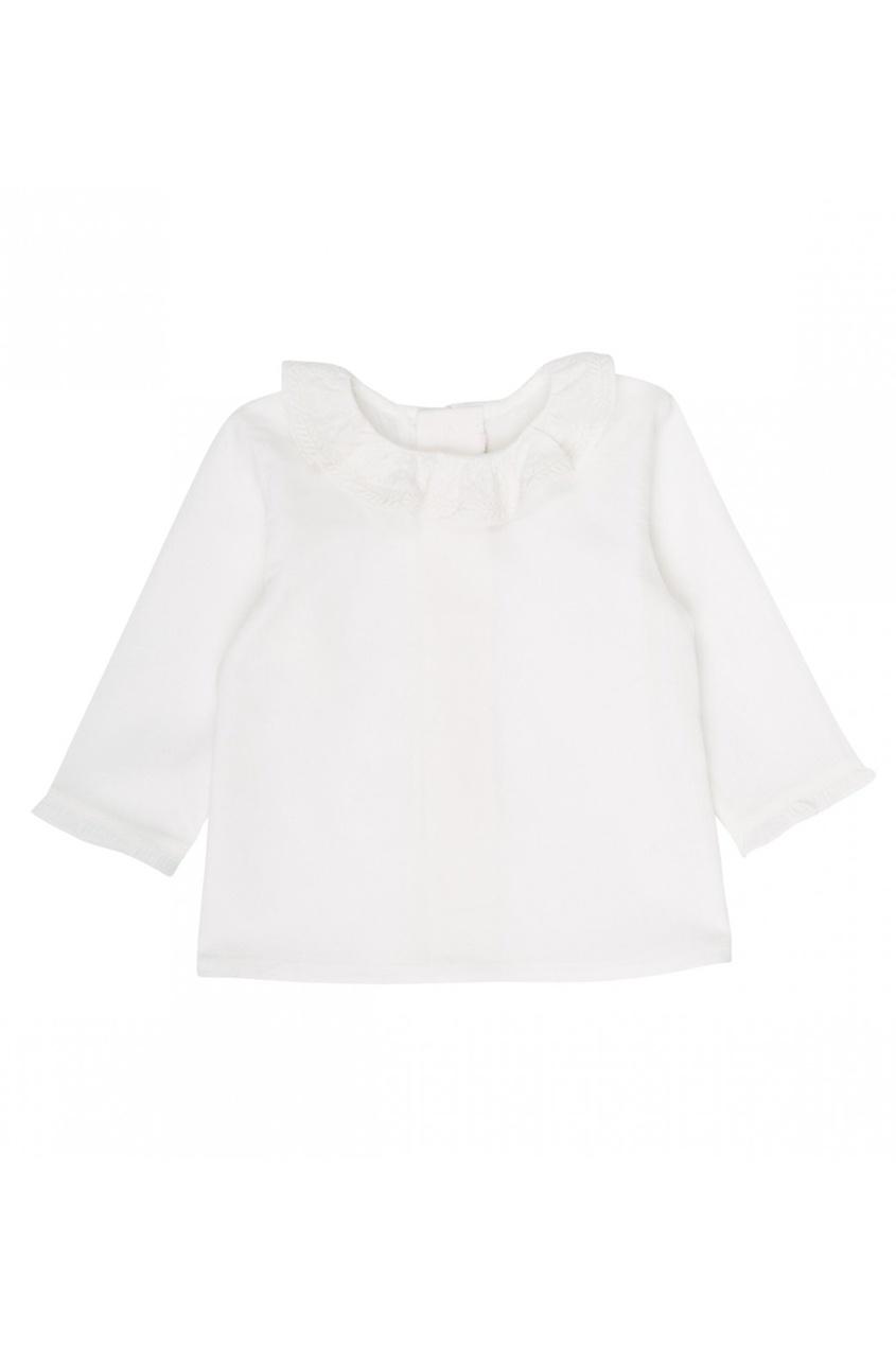 Хлопковая блузка с отделкой