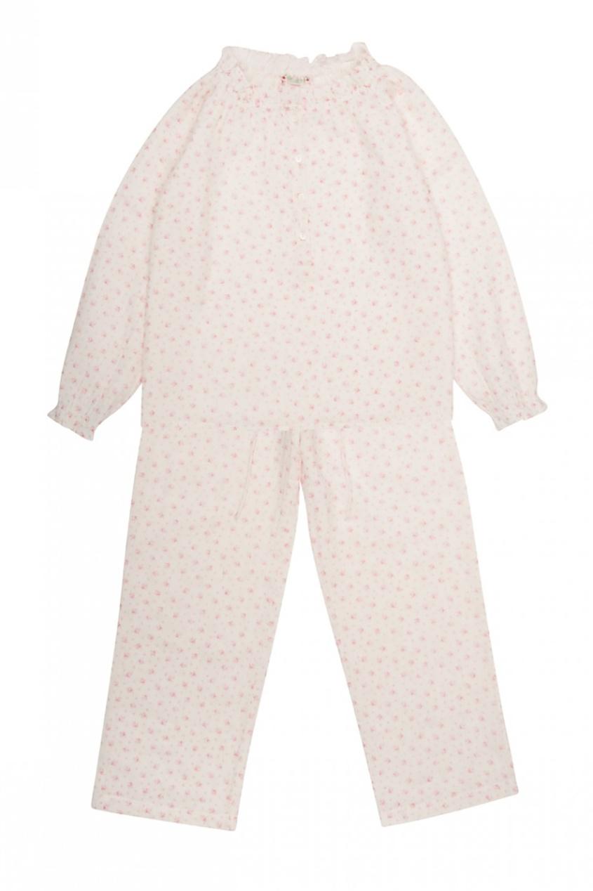 Хлопковая пижама с мелким принтом