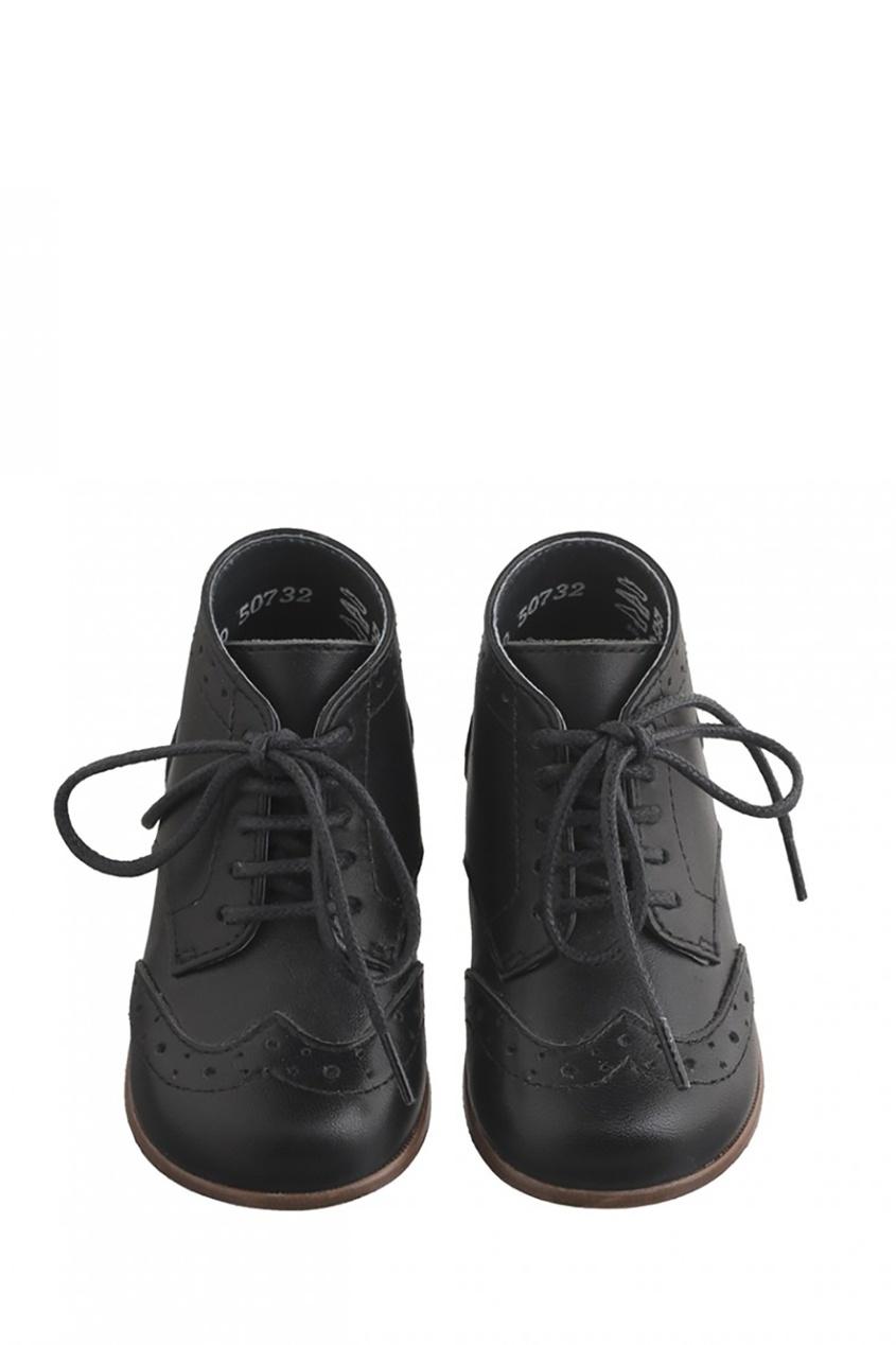 Bonpoint Кожаные ботинки с отделкой bonpoint кожаные черные сапоги botte