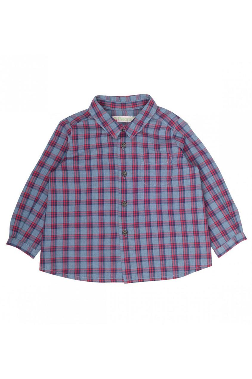 Bonpoint Рубашка в клетку рубашка в клетку из денима gamix3