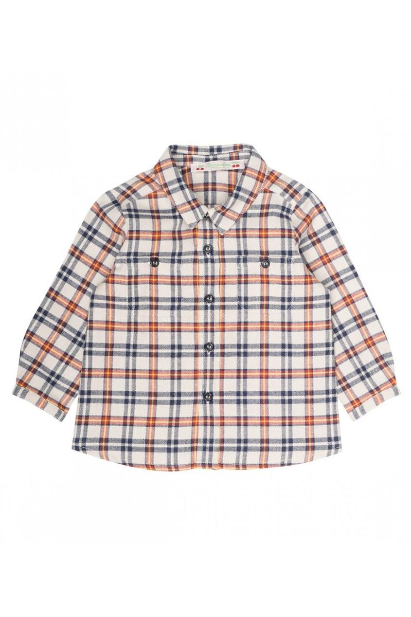 Рубашка в контрастную клетку
