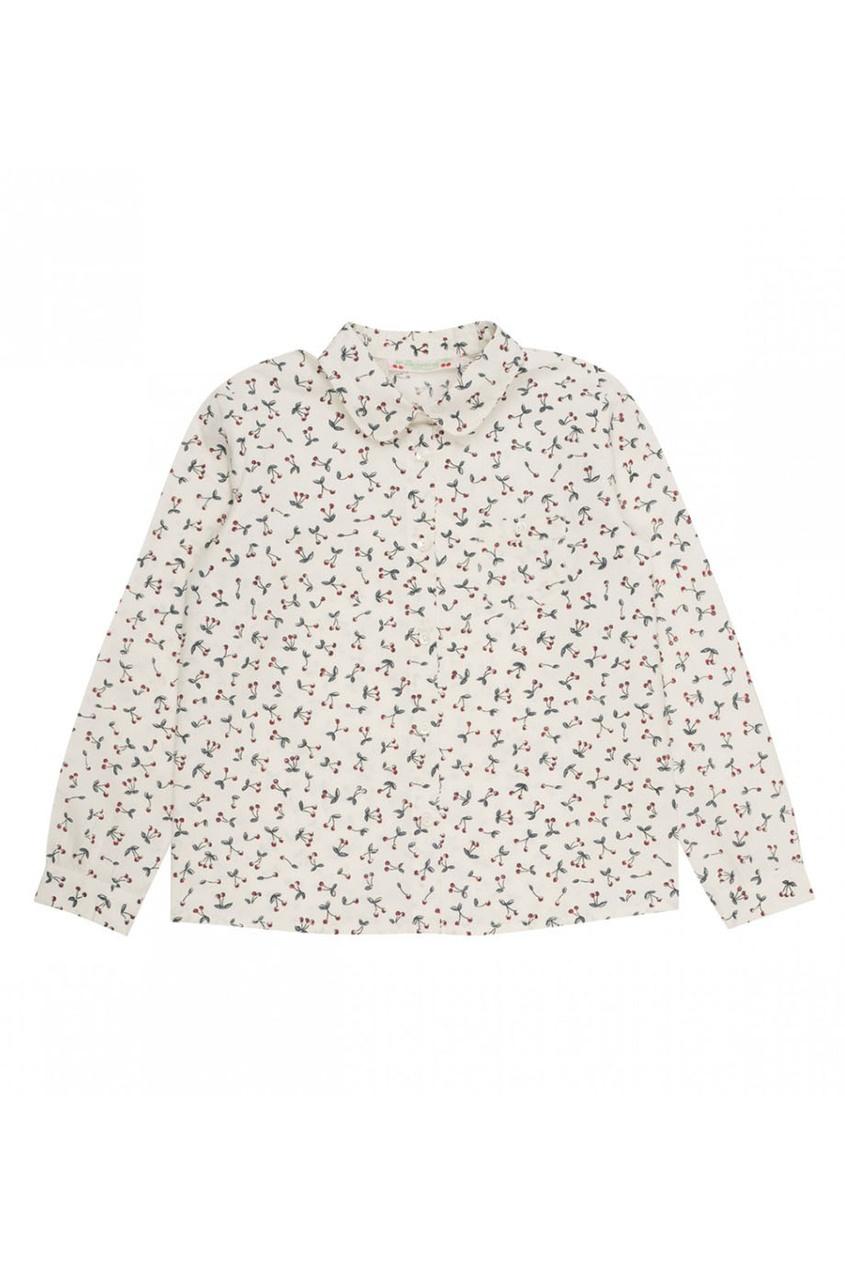 Рубашка с принтом с вишнями