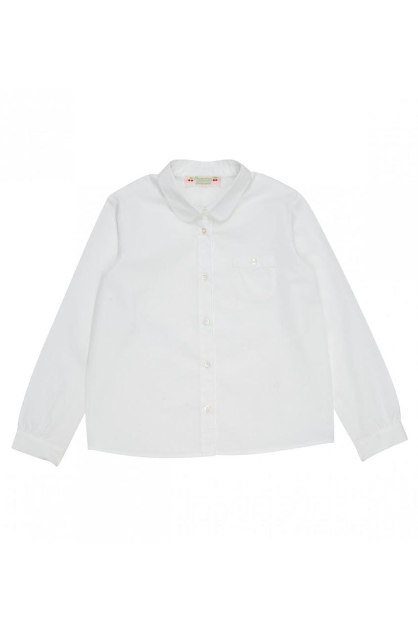Белая хлопковая блузка