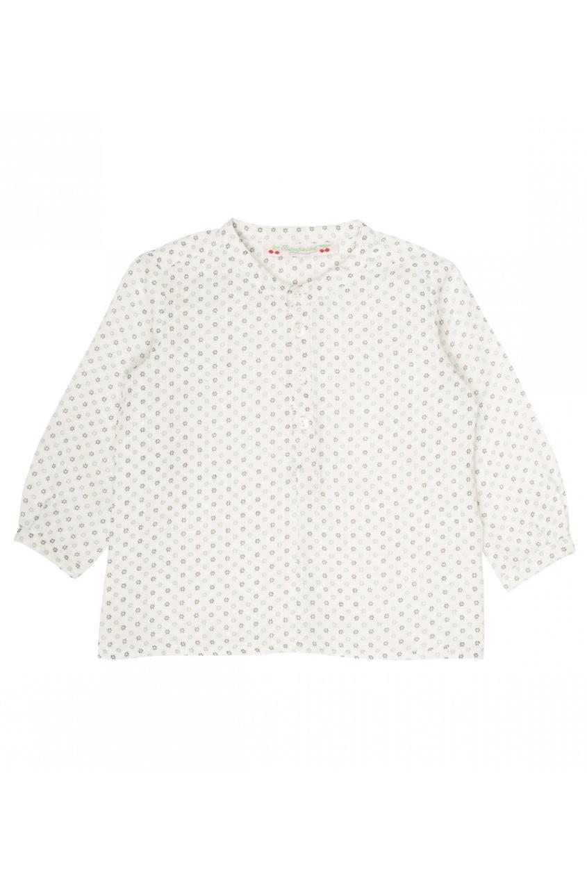 Блузка с наборным принтом