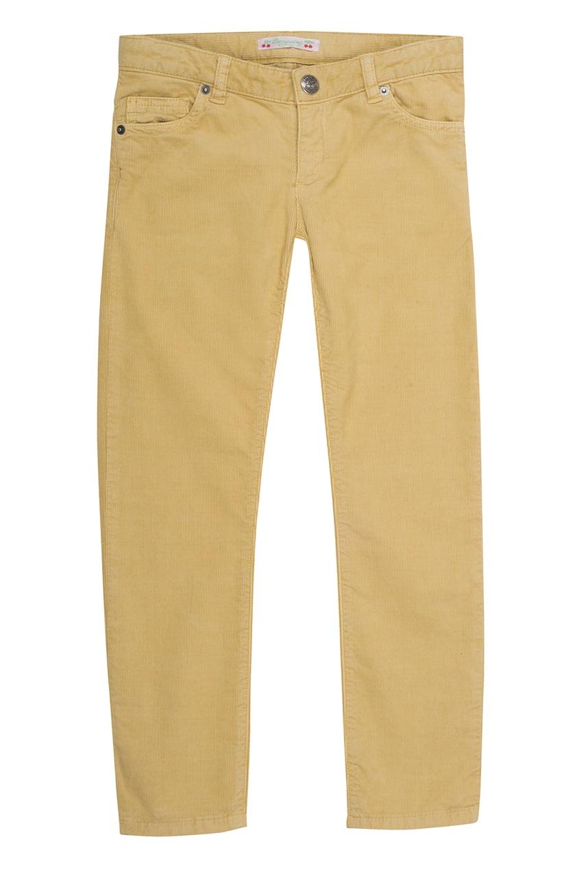 Желтые брюки в рубчик